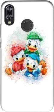 Huey Dewey and Louie watercolor art für Huawei P20 Lite