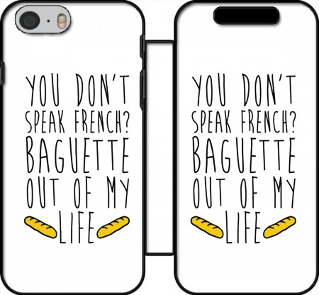Klapptasche Wallet Baguette out of my life für Iphone 6 4.7