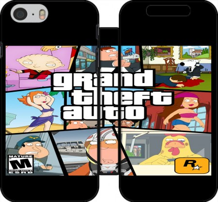 Klapptasche Wallet Family Guy mashup GTA für Iphone 6 4.7