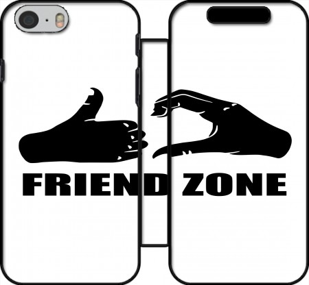 Klapptasche Wallet Friend Zone für Iphone 6 4.7