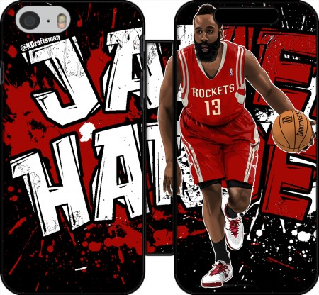 Klapptasche Wallet James Harden Basketball Legend für Iphone 6 4.7